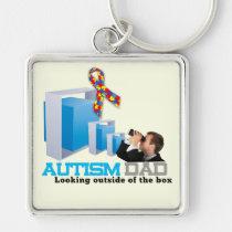 key, chain, autism, education, school, children, dad, Keychain with custom graphic design