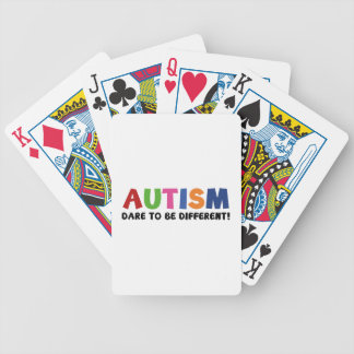 Autism - Dare To Be Different Bicycle Playing Cards