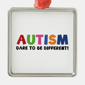 Autism - Dare To Be Different Metal Ornament