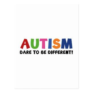 Autism - Dare To Be Different Postcard