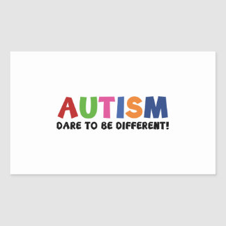 Autism - Dare To Be Different Rectangular Sticker