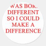 autism design classic round sticker