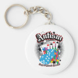 Autism Dice and Cards Keychain