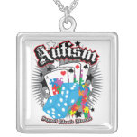 Autism Dice and Cards Pendant