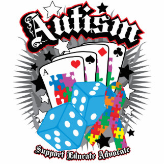 Autism Dice and Cards Statuette