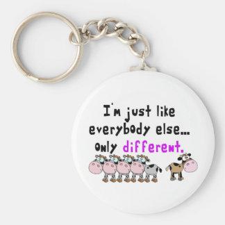 Autism Different Basic Round Button Keychain