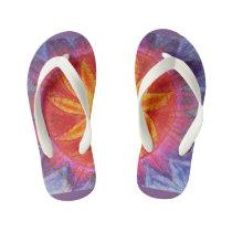 Autism Divine Sun Spiritual Art Kid's Flip Flops