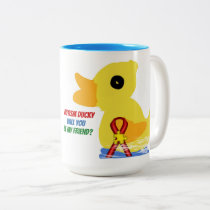 Autism Ducky, Looking For A Friend-  Gift Mug