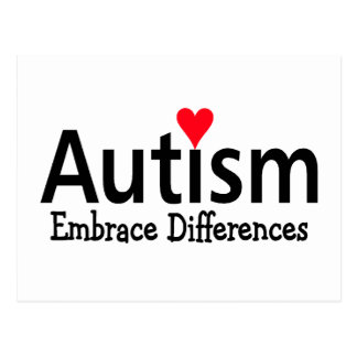 Autism Embrace Difference Postcard