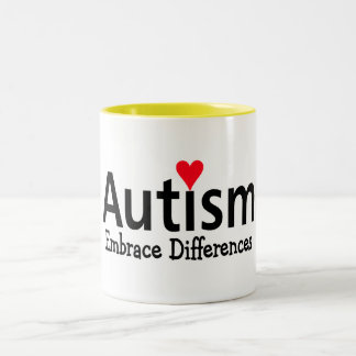 Autism Embrace Difference Two-Tone Coffee Mug