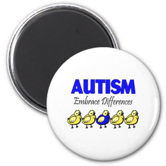 Autism Embrace Differences 2 Inch Round Magnet