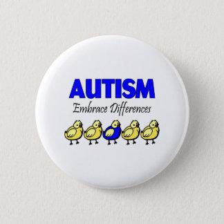 Autism Embrace Differences Button