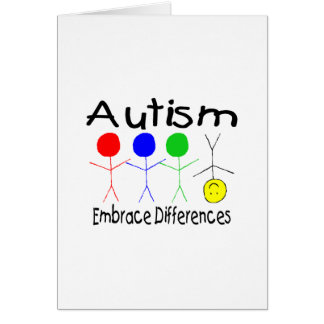 Autism Embrace Differences Card