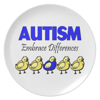 Autism Embrace Differences Dinner Plate
