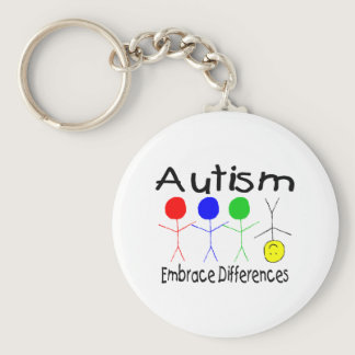 Autism Embrace Differences Keychain