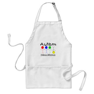 Autism Embrace Differences (People) Adult Apron