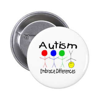 Autism Embrace Differences (People) Pins