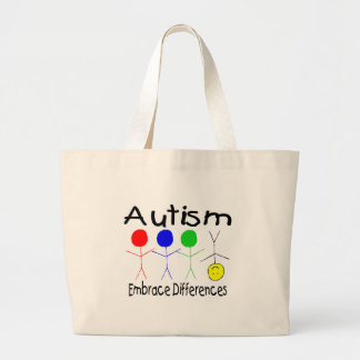 Autism Embrace Differences (People) Large Tote Bag