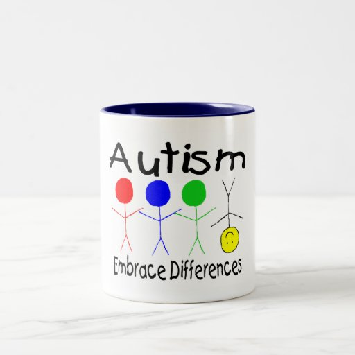 Autism Embrace Differences (People) Two-Tone Coffee Mug