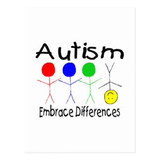 Autism Embrace Differences (People) Postcard
