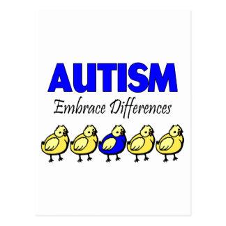 Autism Embrace Differences Postcard