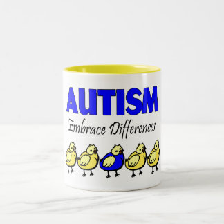 Autism Embrace Differences Two-Tone Coffee Mug