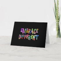 Autism Embrace Different Autism Autistic Card