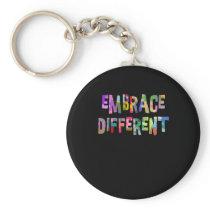 Autism Embrace Different Autism Autistic Keychain