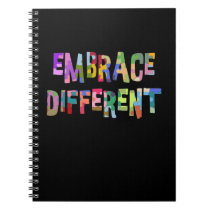 Autism Embrace Different Autism Autistic Notebook
