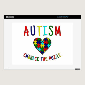 "Autism Embrace The Puzzle 15"" Laptop Skin"