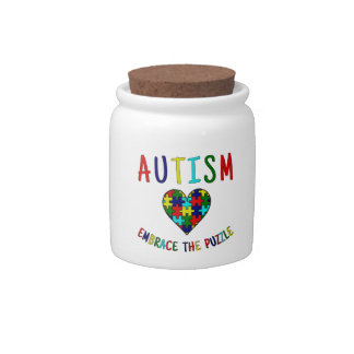 Autism Embrace The Puzzle Candy Dishes