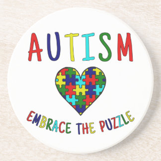 Autism Embrace The Puzzle Beverage Coaster