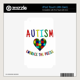 Autism Embrace The Puzzle Decals For iPod Touch 4G
