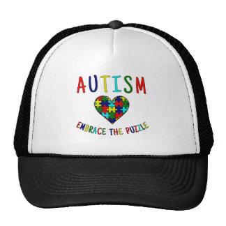 Autism Embrace The Puzzle Trucker Hat