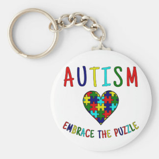 Autism Embrace The Puzzle Keychain