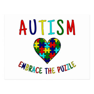 Autism Embrace The Puzzle Postcard