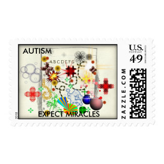 AUTISM, EXPECT MIRACLES POSTAGE STAMPS