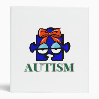 Autism Face Avery Binder