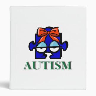Autism Face Avery Binder