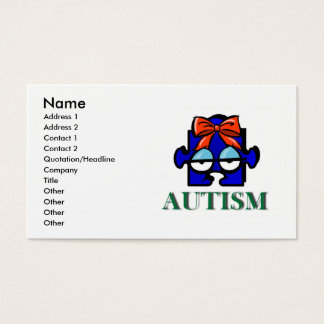 Autism Face Business Card