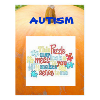Autism Facts Post Card