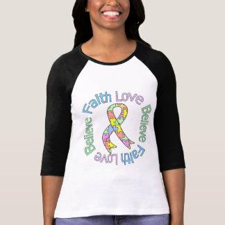 Autism Faith Love Believe Shirts