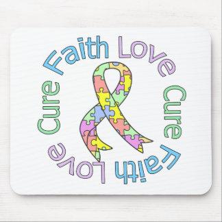 Autism Faith Love Cure Mouse Pad
