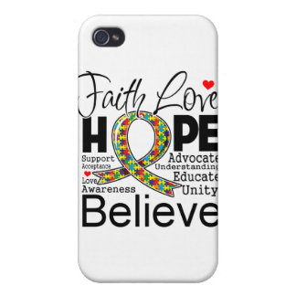 Autism Faith Love Support iPhone 4/4S Covers