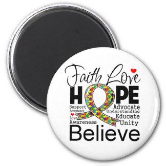 Autism Faith Love Support Magnet