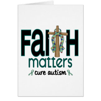 Autism Faith Matters Cross 1 Greeting Cards