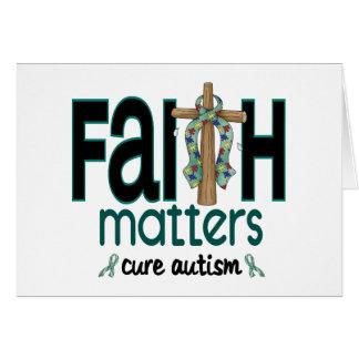 Autism Faith Matters Cross 1 Card