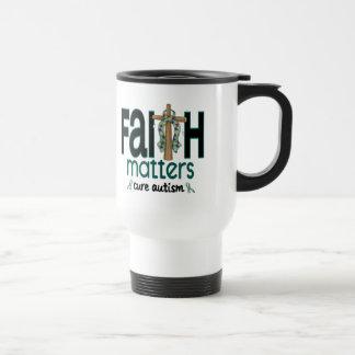 Autism Faith Matters Cross 1 Coffee Mug