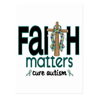Autism Faith Matters Cross 1 Postcard