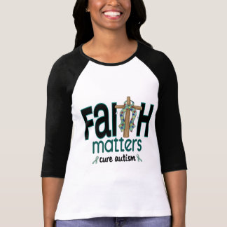 Autism Faith Matters Cross 1 Tshirt